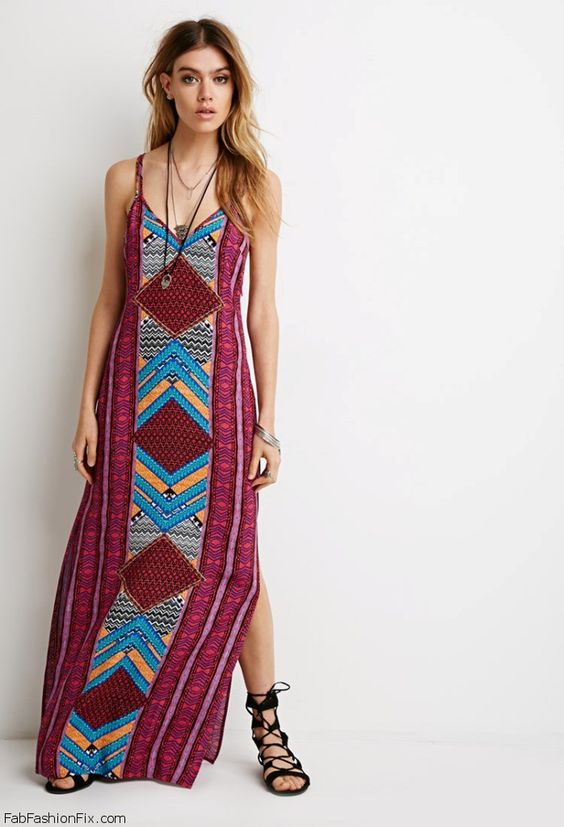 Forever 21 Tribal Print Maxi Dress ($27.90). maxidress  Boho ...