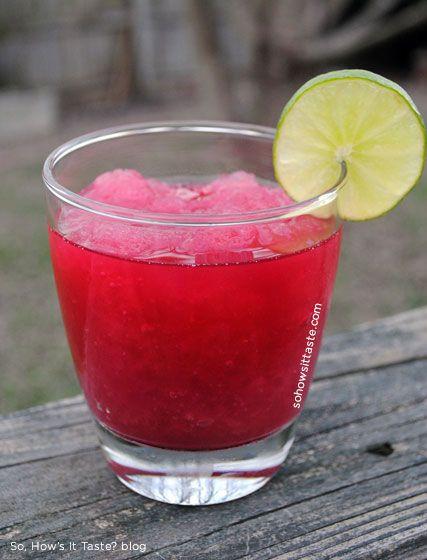 Whiskey Cranberry Slush by So, How's It Taste