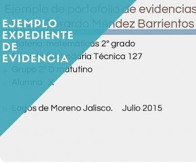 Ejemplo de portafolio de evidencias 2016