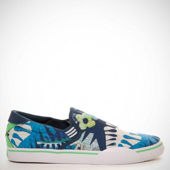 Adidas Mark Gonzales Slip On Uniform Blue/Tropical Green/Run White