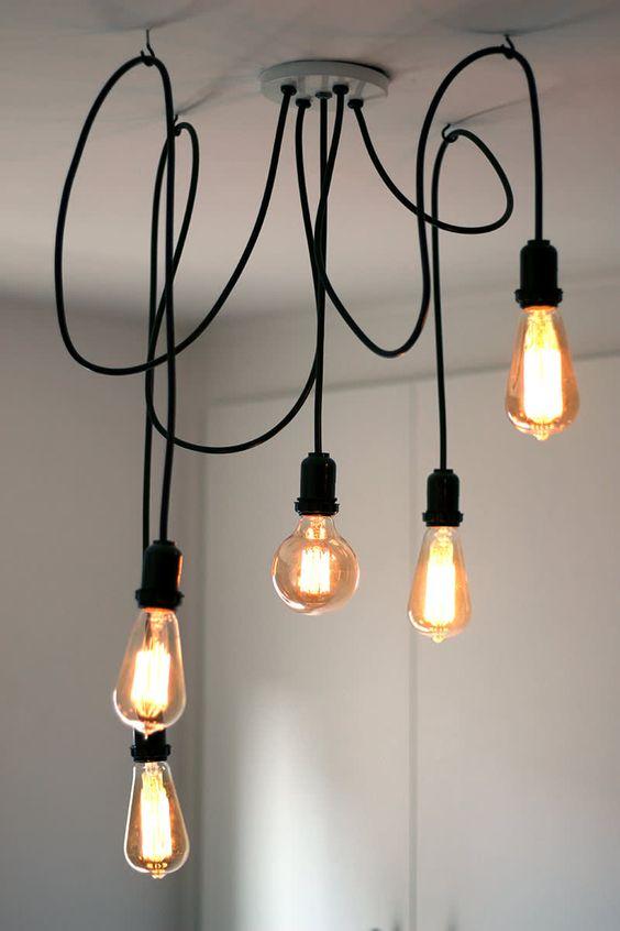 lustre pendente industrial - iluminação moderna - iluminação produção artesanal