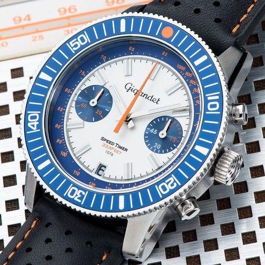 Gigandet SPEED TIMER Silver / Blue dial - G7-008