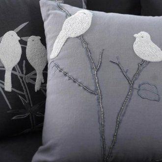 2 birds throw pillow. Wicked cute!
