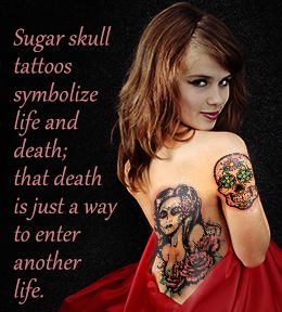What do sugar skulls symbolize?