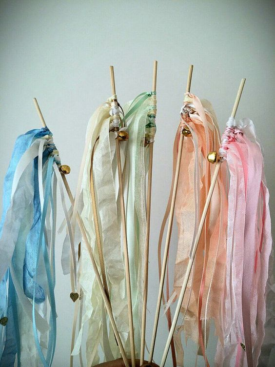 Party wands set of 5 pastel