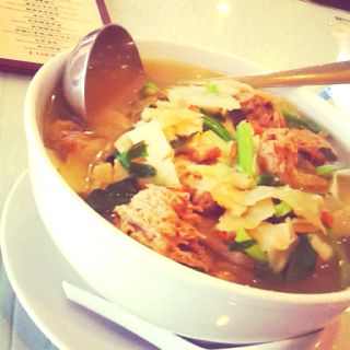 """Mixed Herbal Noodle Soup with Mock Veggie """"Lamb"""""""