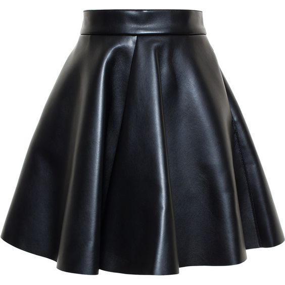 Msgm Faux Leather Skirt (€220) ❤ liked on Polyvore featuring skirts, bottoms, saias, faldas, faux leather skirt, knee length pleated skirt, fake leather skirt, imitation leather skirt and a line skirt