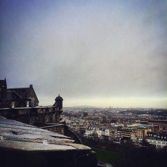 The view from Edinburgh Castle #scotland #Edinburghcastle #Edinburgh by steampoweredkitsune