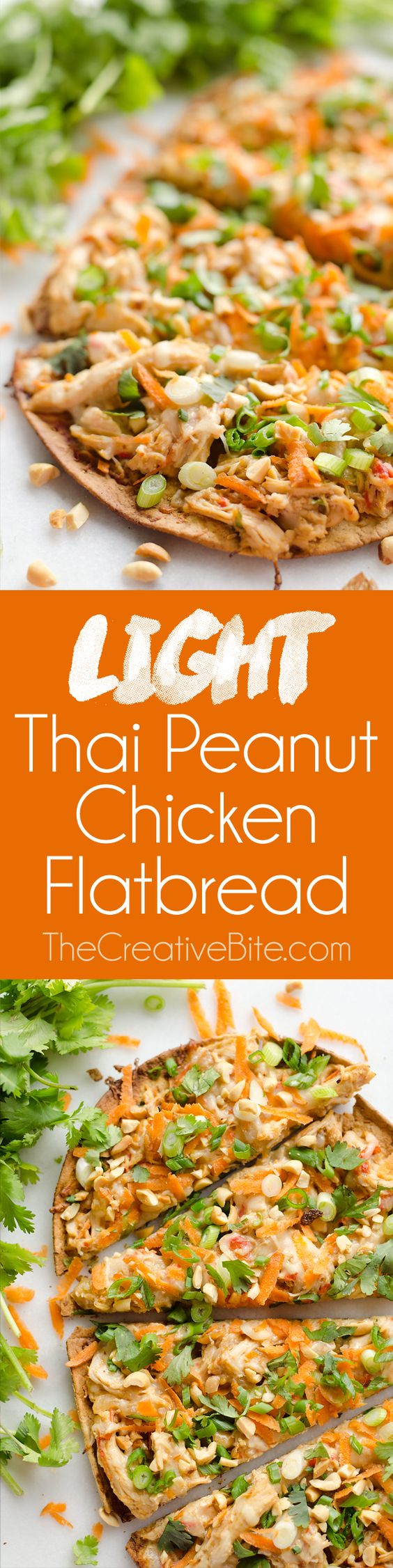 Chicken flatbread, Thai peanut chicken and Peanut chicken on Pinterest