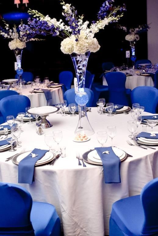 37 Fabulous Royal Blue Wedding Decorations Ideas Fashion And Wedding Blue Wedding Decorations Blue Wedding Centerpieces Blue Wedding Receptions