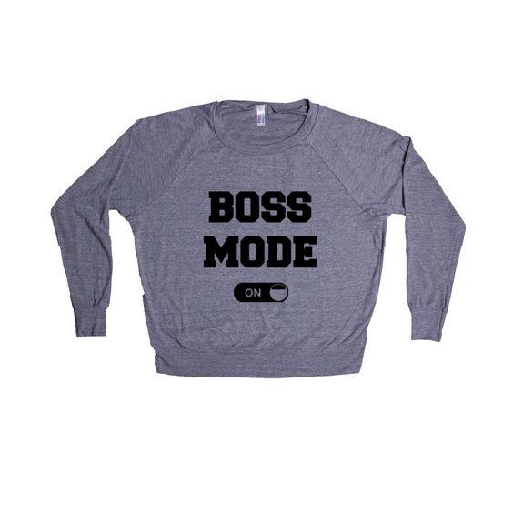 Boss Mode On Work Worker Working Bosses Employee Employer Job Jobs Career Careers Control Alert SGAL5 Women's Raglan Longsleeve Shirt