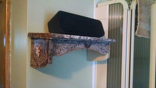 Bathroom speaker shelf