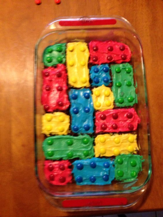 Lego birthday brownies. Super easy and were a big hit!