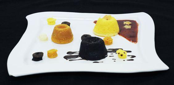 Petit Gateau fest: chocolate, doce de leite e catupiry. E mini´s Petit Gateau | Petit Gateau fest: chocolate, dulce de leche and cream cheese. And mini's Petit Gateau.