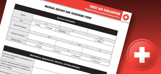 Being Prepared for Medical Emergencies Medical, Emergency - medical history form