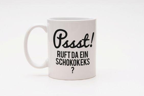 Becher & Tassen - 彡CupCup | Typo Tasse | Psst! - ein Designerstück von claus-peter-2 bei DaWanda