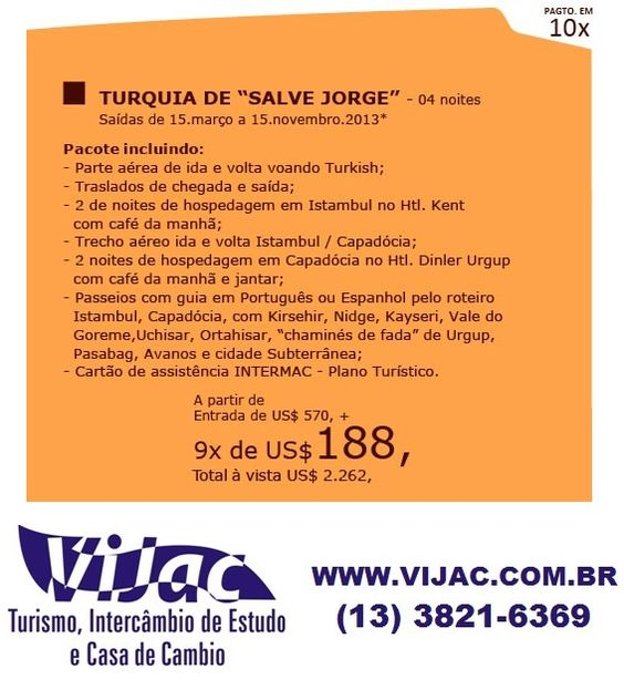 Turquia Salve Jorge - www.vijac.com.br