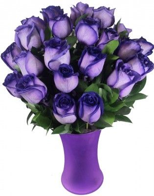 2 Dozen Perfect Purple Roses: