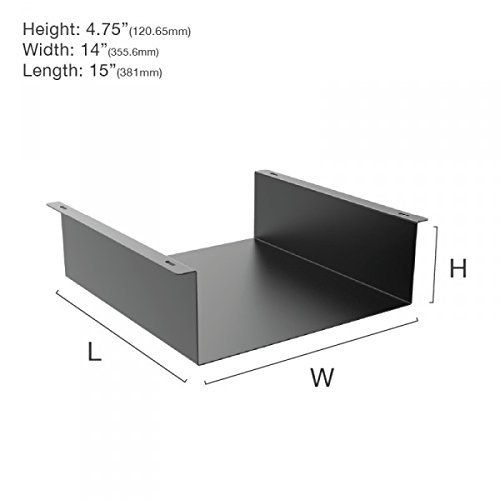 Amazon Com Oeveo Under Mount 445i 14w X 4 75h X 15l Under Desk Computer Mount For Hp Elitedesk Sff And Lenovo Think Computer Desk Desk Floating Nightstand