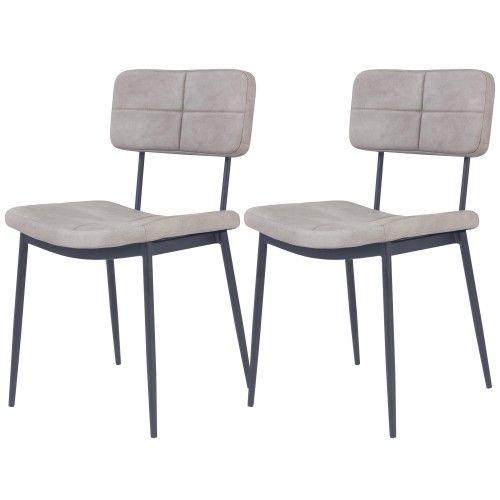 Chaise Grise Igor Lot De 2 Chaise Grise Table Basse Chaise