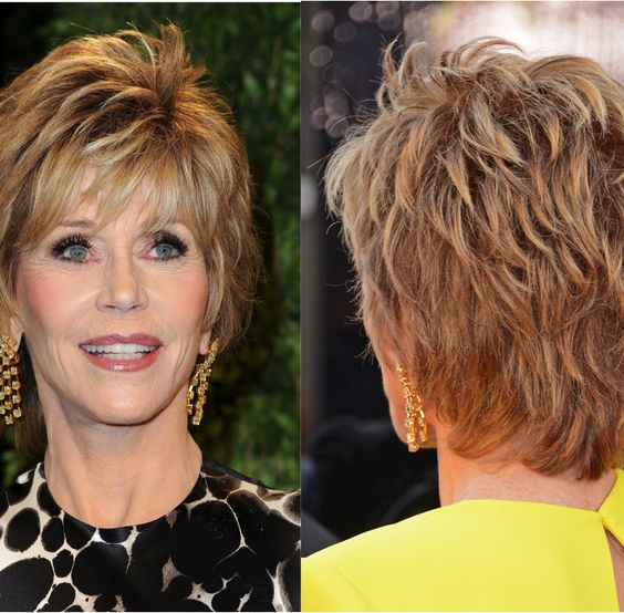 short hairstyles for older women back view hair