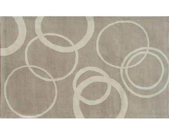 rings rug | Rug Market Daffodel Rings Silver/Ivory Rug 5 X 8