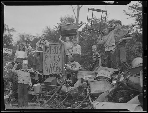 https://flic.kr/p/eot34f | WWII: Many children with iron pills for Hitler sign scrap metal collection? | File name: 08_06_032964 Title: WWII: Many children with iron pills for Hitler sign scrap metal collection? Creator/Contributor: Jones, Leslie, 1886-1967 (photographer) Date created: 1934 - 1956 (approximate) Physical description: 1 negative : film, black & white; 3 1/8 x 4 1/4 in. Genre: Film negatives Subject: Scrap drives; Metals; Children; World War, 1939-1945  Notes: Title from in...