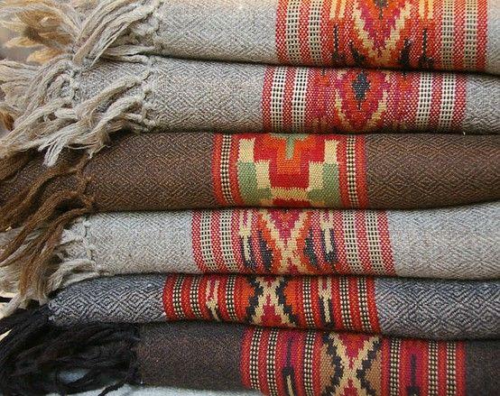 Vintage Woven Blankets.....Beautiful!...Photo On Emma James Illustration.