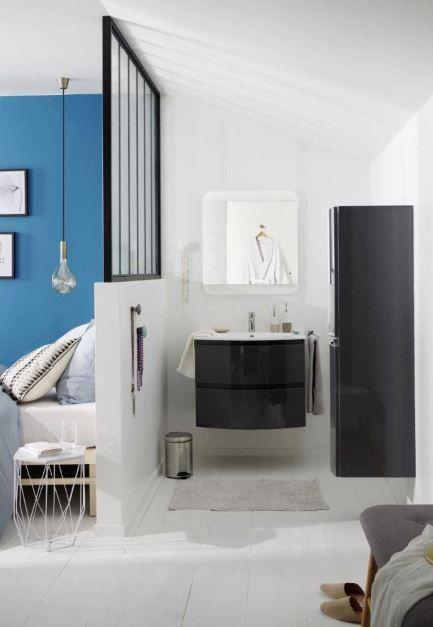 8 Conseils Pour Creer Une Salle De Bain Ouverte Sur La Chambre En 2020 Chambre A Coucher Avec Dressing Salle De Bains Ouverte