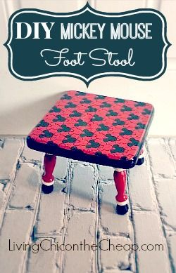 Mickey mouse foot stools and mice on pinterest - Mickey mouse stool ...