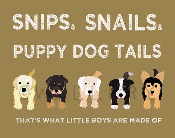 Nursery art print. Boy nursery artwork Puppy dog Thats by Wallfry, $38.00
