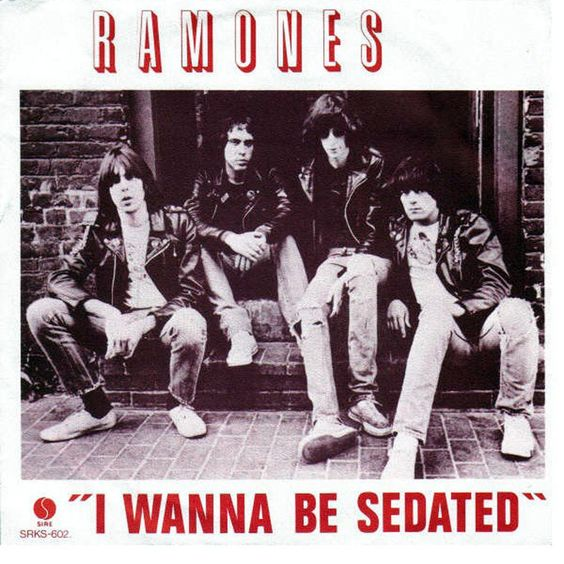 Ramones – I Wanna Be Sedated (single cover art)