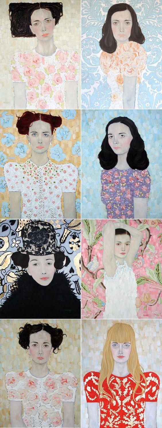 ryanpickart.blogspot.co.uk  Miss Moss: Self Portrait Painting, Ryanpickart Blogspot, Paintings Portraits, Art Painting, Pickart Girls