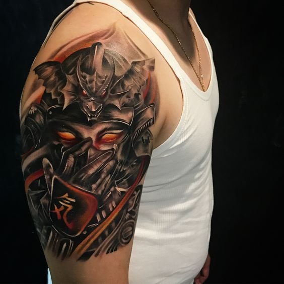 Tatto Keren Cowok Samurai Tattoo Tato Pria Tato Lengan