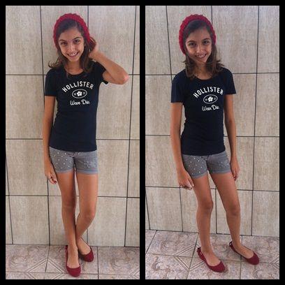 Look do Dia: Boina Vermelha + Shorts de Tachinhas.