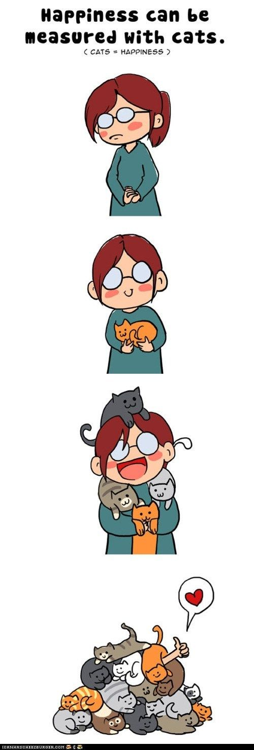 Happiness can be measured with cats