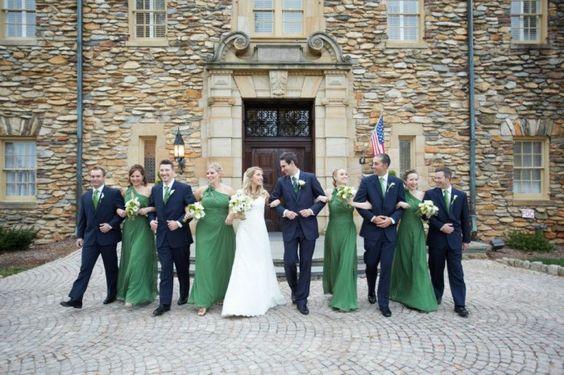 Bridal party ideas graylyn estate elegant fall wedding for Wedding dresses winston salem