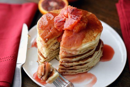 Pancakes With Blood Orange Honey Sauce Recipe - Food.com