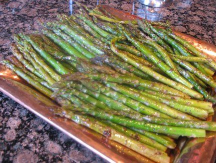Roasted Asparagus with Balsamic Vinegar Italian Herbs marinade and ...