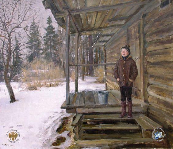 Чайников Григорий Леонтьевич (1960-2008) Март Холст, масло