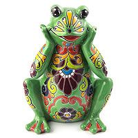 Coquette Frog from @NOVICA, They help #artisans succeed worldwide.