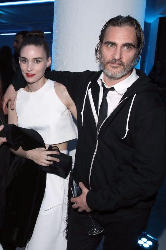 Rooney Mara And Joaquin Phoenix Get Cozy At Art Of Elysium Gala