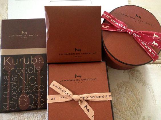 La Maison Du Chocolat: Dark Chocolate Champagne Cognac Truffles, Victor Hugo hard box