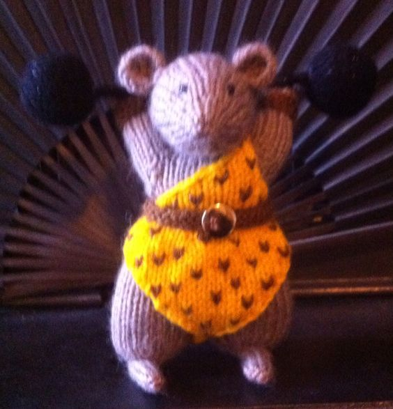 Benito strongman Beth's mouse circus 2015 made by aunty Roz