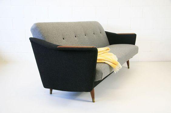 Danish refurbished midcentury sofa bed vintage retro 50s for Sofa bed 50s