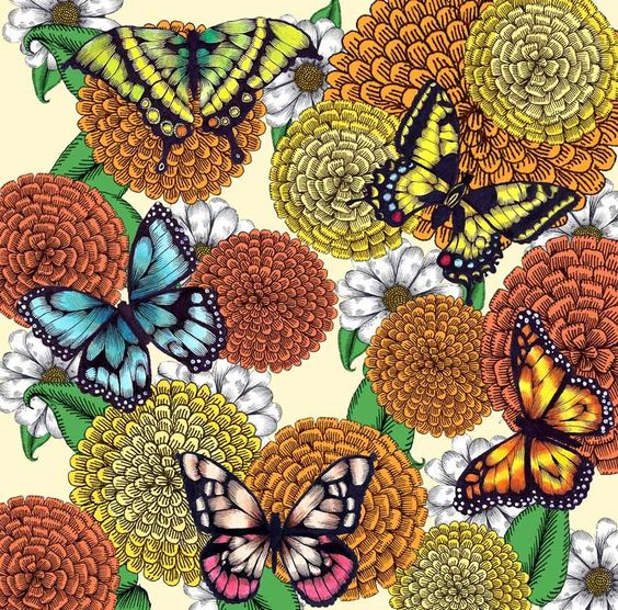 Flowers and Butterflies by jdimmett