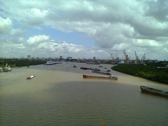 full view on the top of Binh Bridge