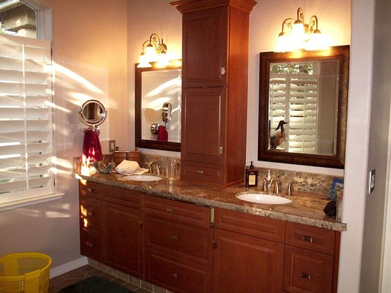 countertop linen storage in the bathroom counter storage cabinet for