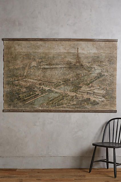 "198. 45"" x 71"" Relic City Map, Paris - anthropologie.com"