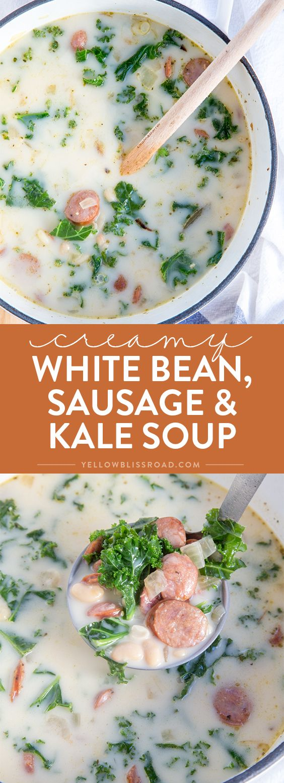 Skillet 30-Minute Kale, White Bean And Sausage Soup Recipe ...